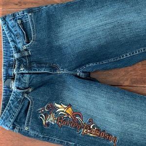 Harley-Davidson Embroidered Jeans, Size 6